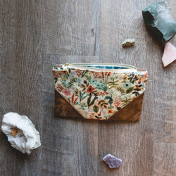 Rifle Paper Co Herb Garden Waxed Cotton Pouch - Burst into Bloom