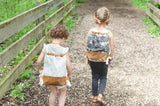 Kids Adventure Diamond Backpack, Waxed Canvas Backpack - Burst into Bloom