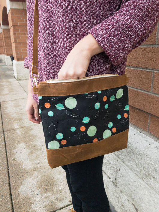 Spring Cleaning Waxed Canvas Crossbody in I Need Space