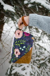 Peony Waxed Canvas Wristlet - Burst into Bloom