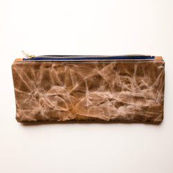 Hand Waxed Catch-All Pouch (Large) - Burst into Bloom