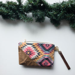 Kilim Wristlet - Burst into Bloom