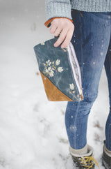 Woodland Waxed Canvas Wristlet - Burst into Bloom