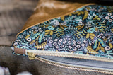 Rifle Paper Co Purse with Waxed Cotton Menagerie print