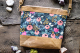Rifle Paper Co Rosa in Navy Waxed Canvas Crossbody Bag - Burst into Bloom