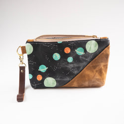 Waxed Canvas Wristlet in I Need Space