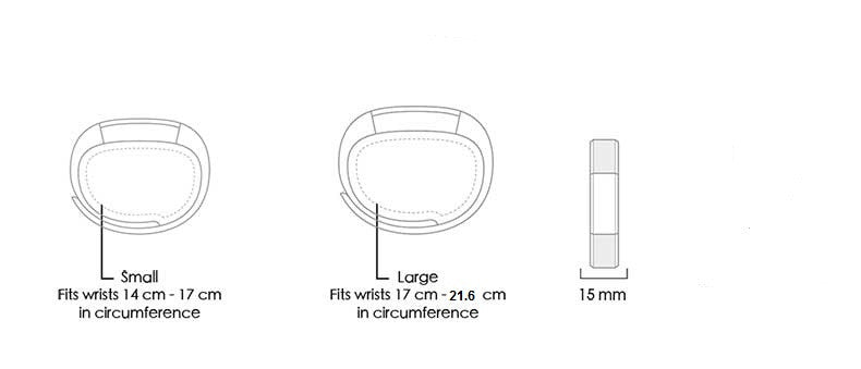 Fitbit Alta Bands White Small And Large Sizes Live Teak