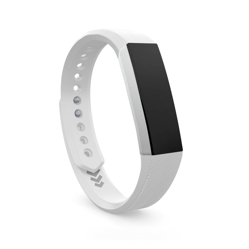 Fitbit Alta Bands White Small And Large Sizes Teak Training Metal Accessory Bracelet