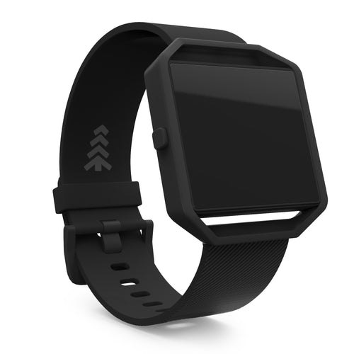 Fitbit Blaze Bands - Matte Black, Small and Large Sizes.