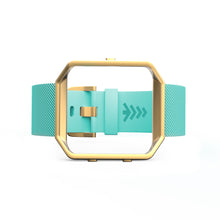Fitbit Blaze Bands - Teal and Gold, Small and Large Sizes.