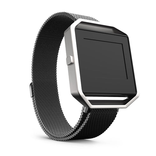 Fitbit Blaze Bands - Black Metal, Large Size.