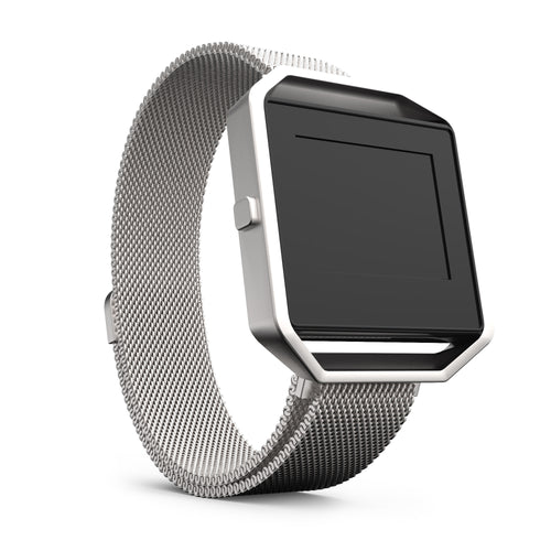 Fitbit Blaze Bands - Silver Metal, Large Size.