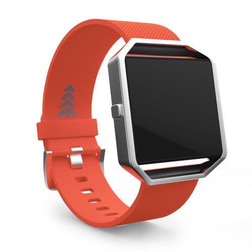 Fitbit Blaze Bands - Orange, Small and Large Sizes.