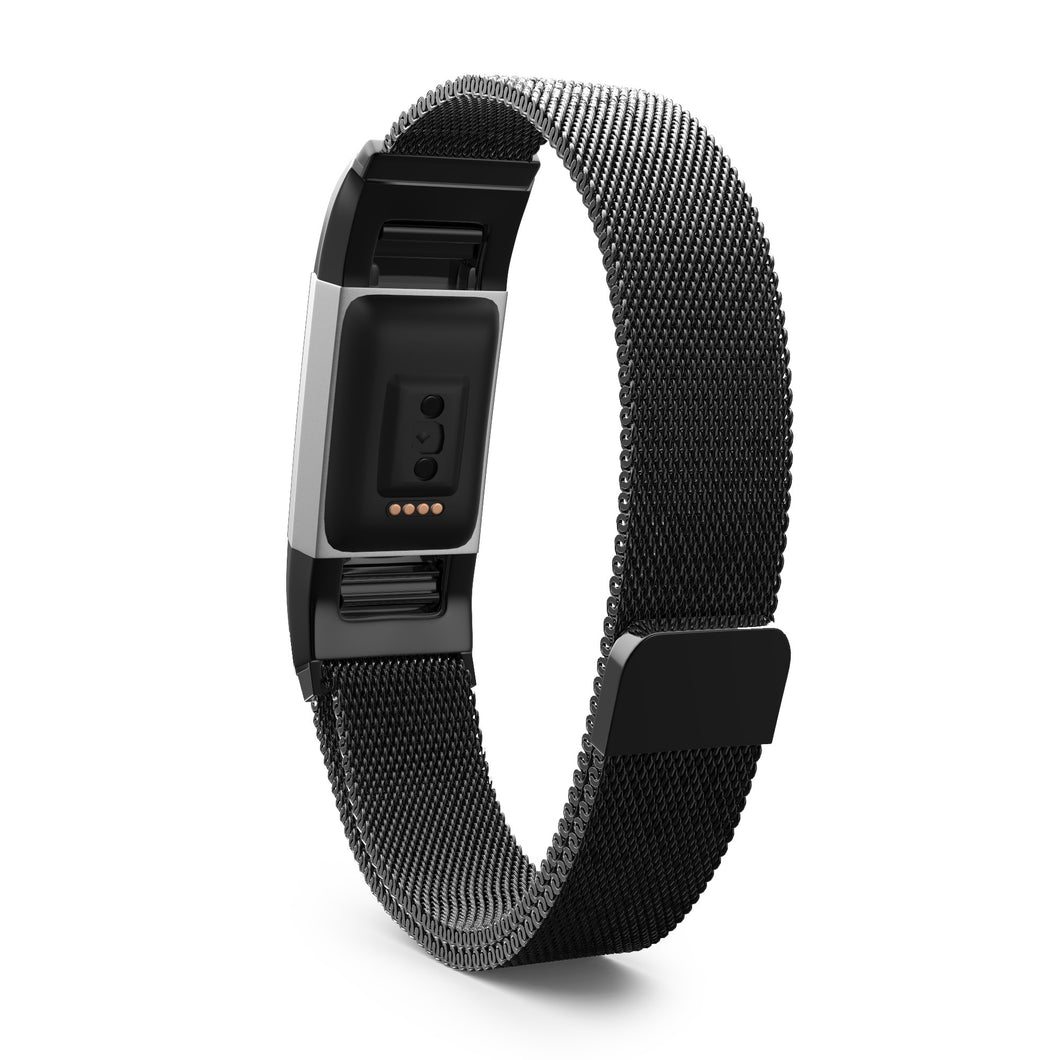 Fitbit Charge 2 Bands - Metal Black, Large Size  – Live Teak