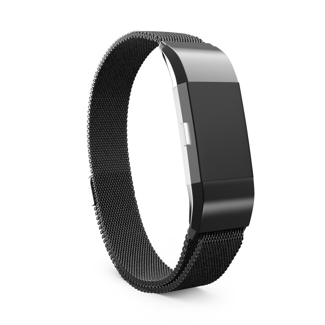 Fitbit Charge 2 Bands - Metal Black, Large Size.