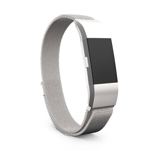 Fitbit Charge 2 Bands - Metal Silver, Large Size.