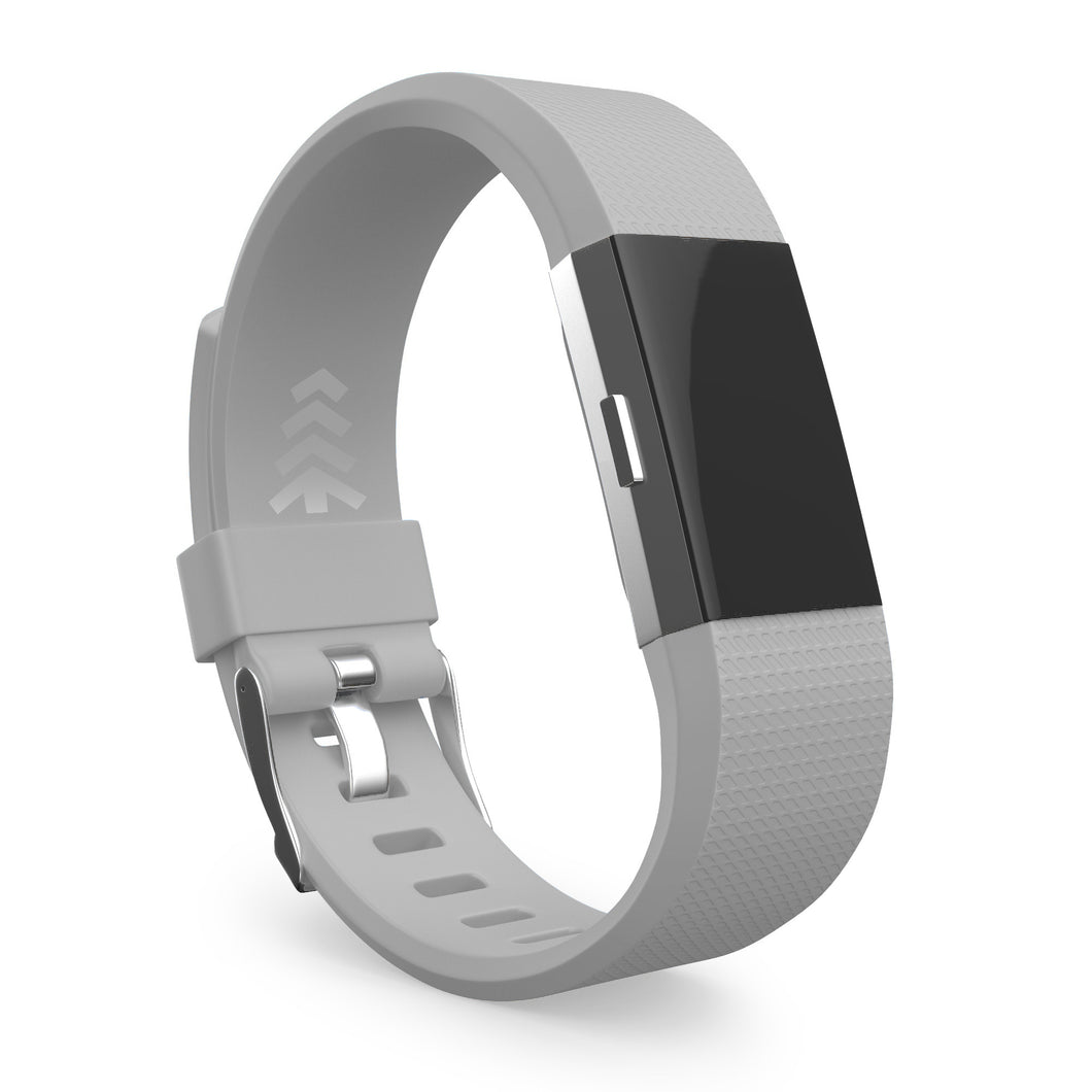 Fitbit Charge 2 Bands - Gray, Small and Large Sizes.