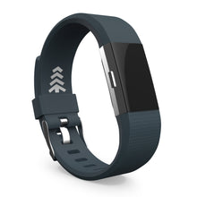 Fitbit Charge 2 Slate - Black, Small and Large Sizes.