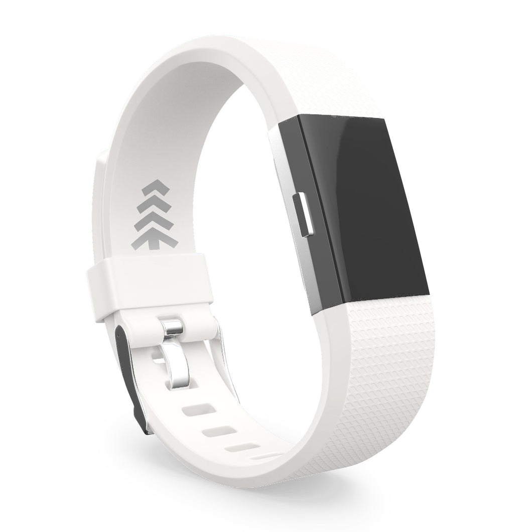 Fitbit Charge 2 Bands - White, Small and Large Sizes.
