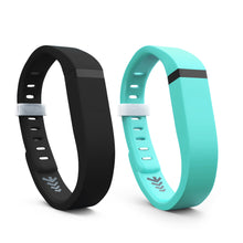 Fitbit Flex Bands - Teal & Black 2 Pack, Small and Large Sizes.
