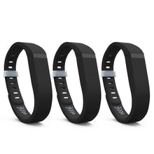 Fitbit Flex Bands - Black 3 Pack, Small and Large Sizes.