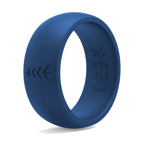 Men's Silicone Wedding Rings - Blue, Sizes 8-14.