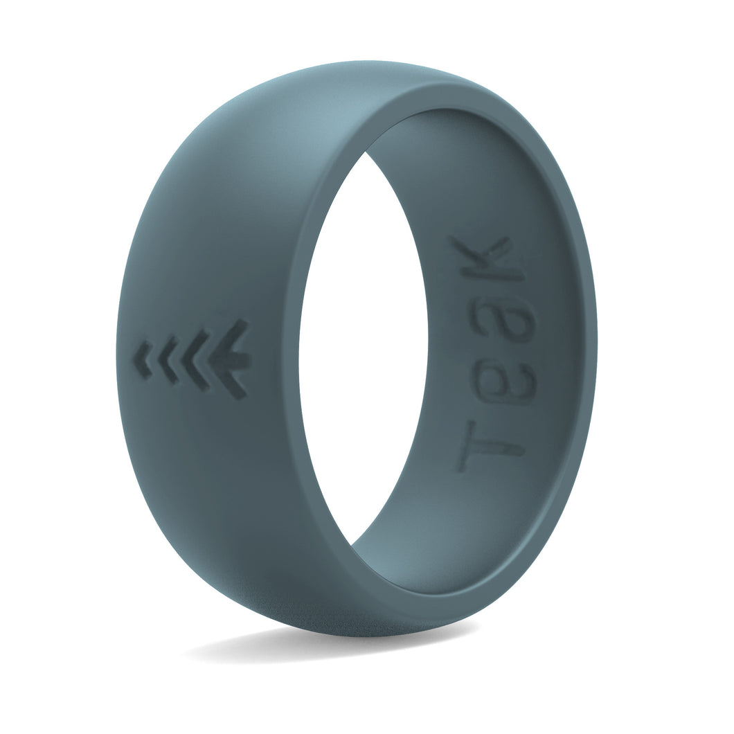 Men's Silicone Wedding Rings - Slate, Sizes 8-14.