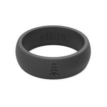 Women's Silicone Wedding Rings - Black, Sizes 6-8.