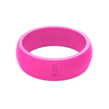 Women's Silicone Wedding Rings - Pink, Sizes 5-9.