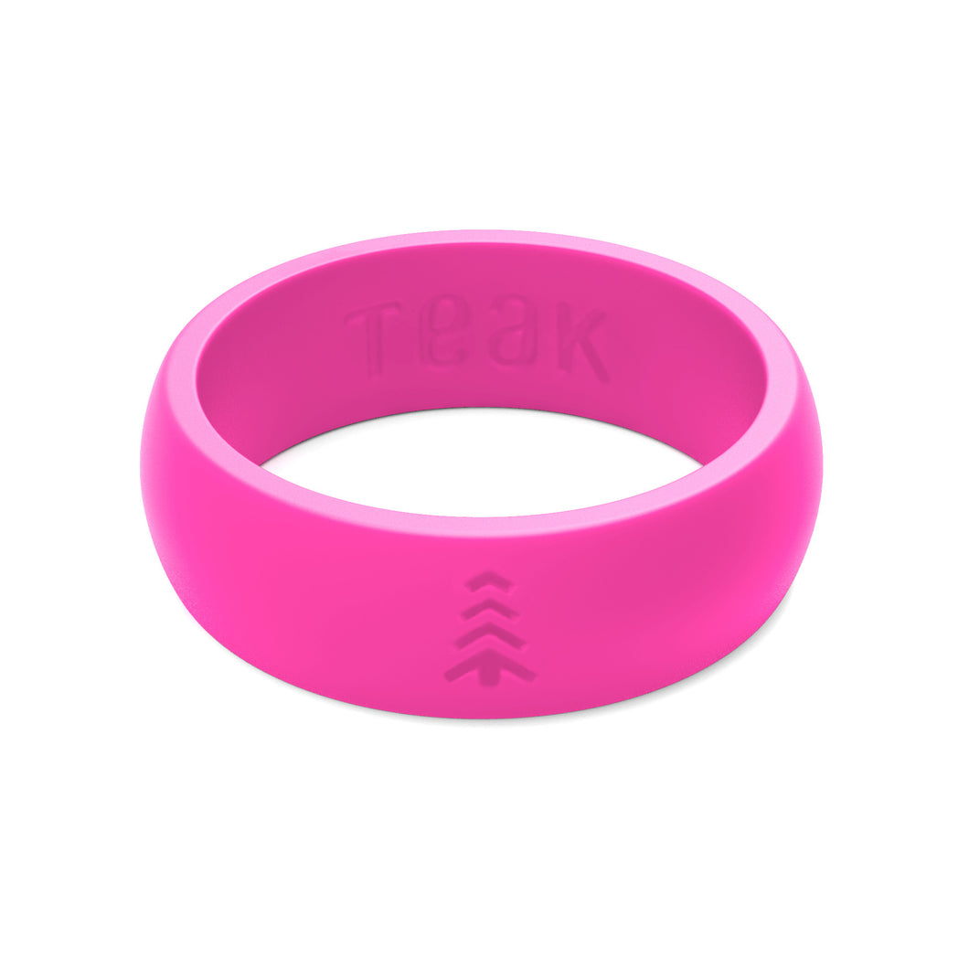 Women\'s Silicone Wedding Rings - Pink, Sizes 5-9. – Teak Training