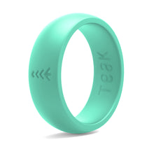 Women's Silicone Wedding Rings - Teal, Sizes 5-9.