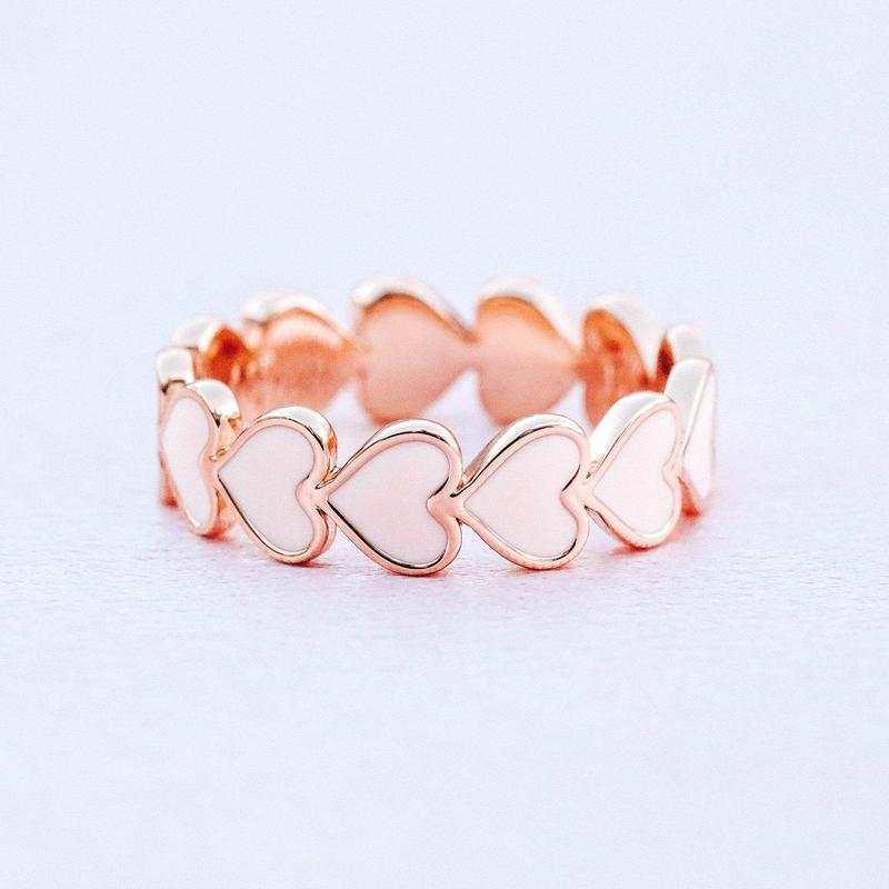 The Love Enamel Heart Ring