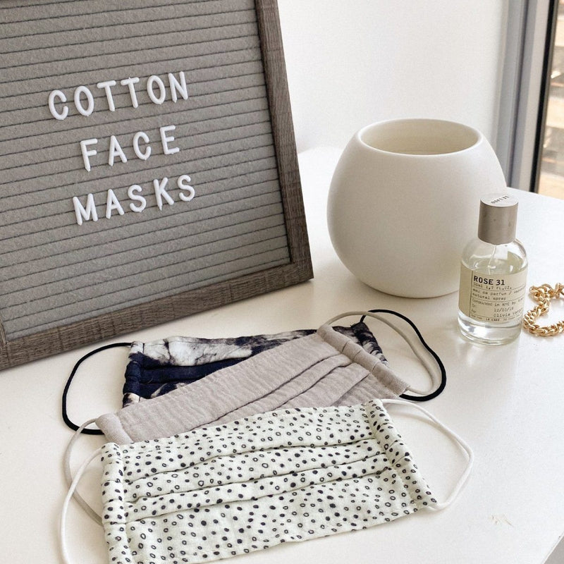 Neutral - Cotton Face Mask 3 piece Set