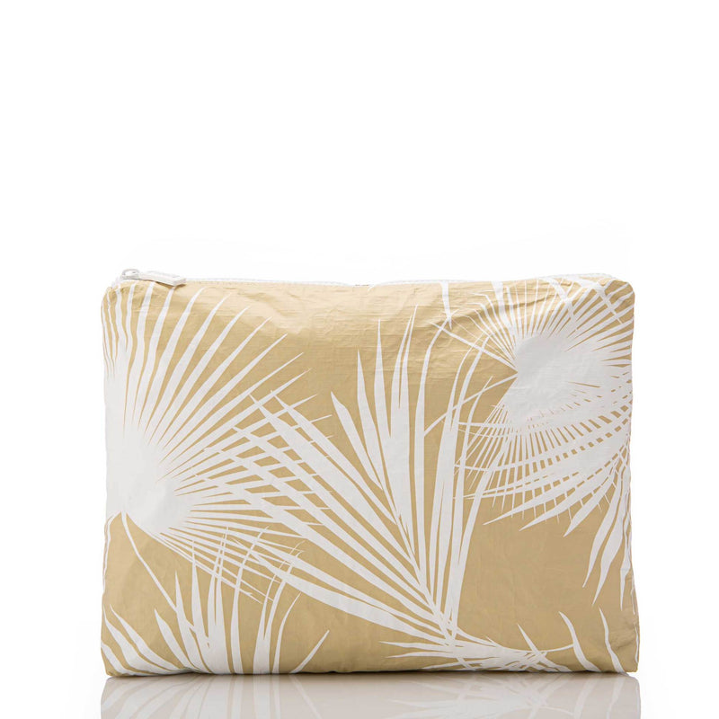 The Aloha Mid Day Palms Pouch - White Sand