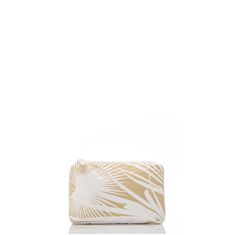 The Aloha Mini Day Palms Pouch - White Sand