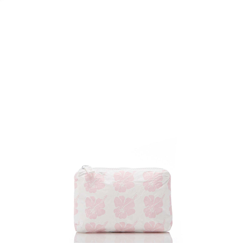 The Aloha Mini Hibiscus Bloom Pouch - Mochi