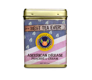 American Dream : Peaches & Cream 3 Oz Collectible Tin Tea