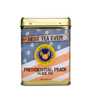 Presidential Peach 3 Oz Collectible Tin Tea