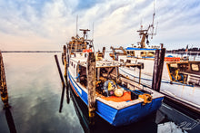 Fishing Boats Ocean Picture Art Photograph Print on Canvas Classic Digital Art Photo
