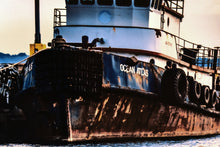 Tug Boat Wall Hanging Art Photograph Print on Canvas Ocean Ship Photo