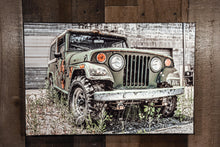 Jeep Art Photograph Print on Canvas