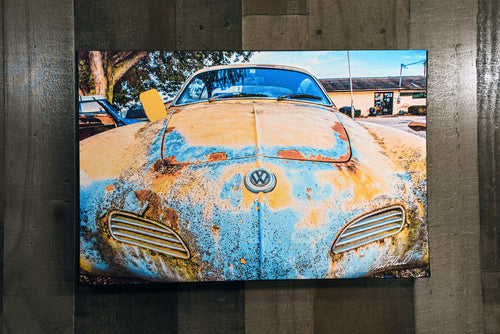 Car Art VW Volkswagen Karmann Ghia Wall Hanging Art Photograph Print on Canvas