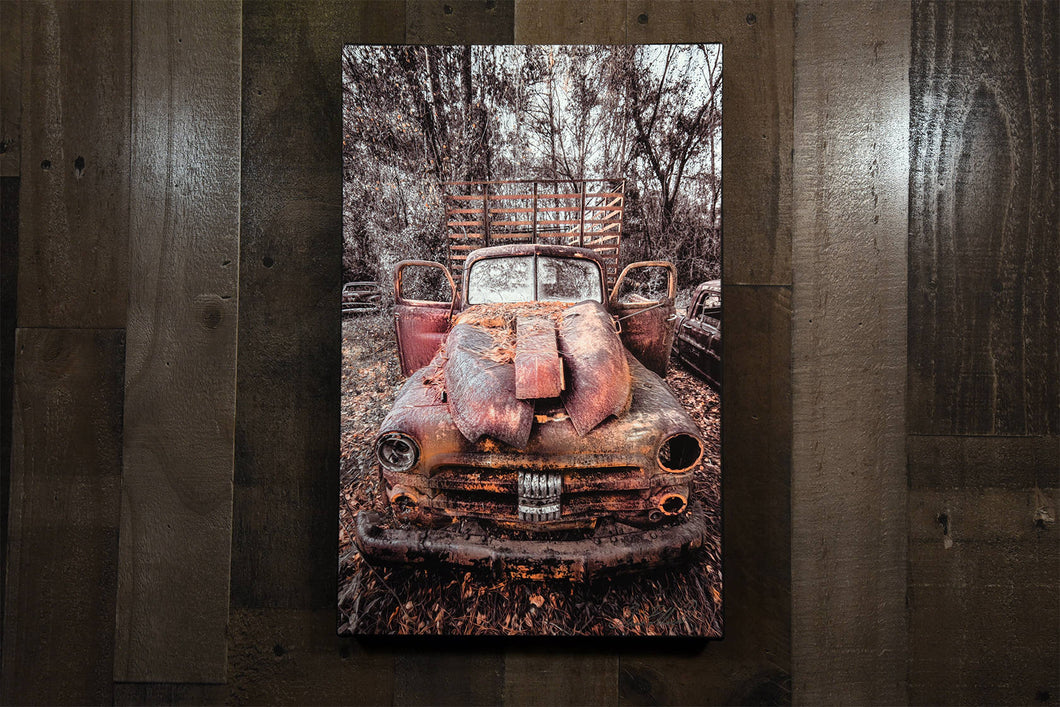 Old Truck Picture 1953 Dodge Job Rated Pickup Truck Art Photograph Print on Canvas Classic Car Photo