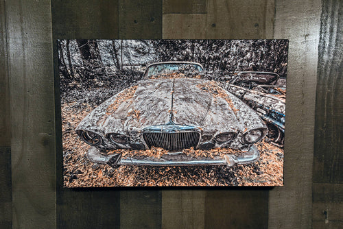 Classic Car Picture 1965 Jaguar Mark X Wall Hanging Art Photograph Print on Canvas