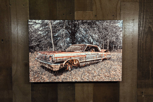 Classic Car Picture 1964 Chevrolet Impala Wall Hanging Art Photograph Print on Canvas