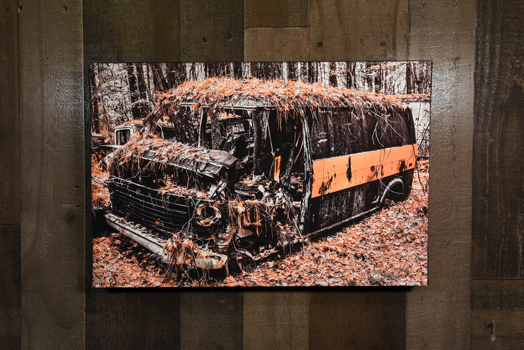 Old Car Picture Ford Van Wall Hanging Art Photograph Print on Canvas Classic Car Photo