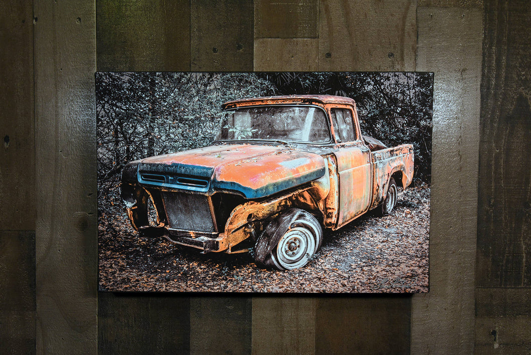 Classic Car 1960 Ford Pickup Truck Art Photograph Print on Canvas