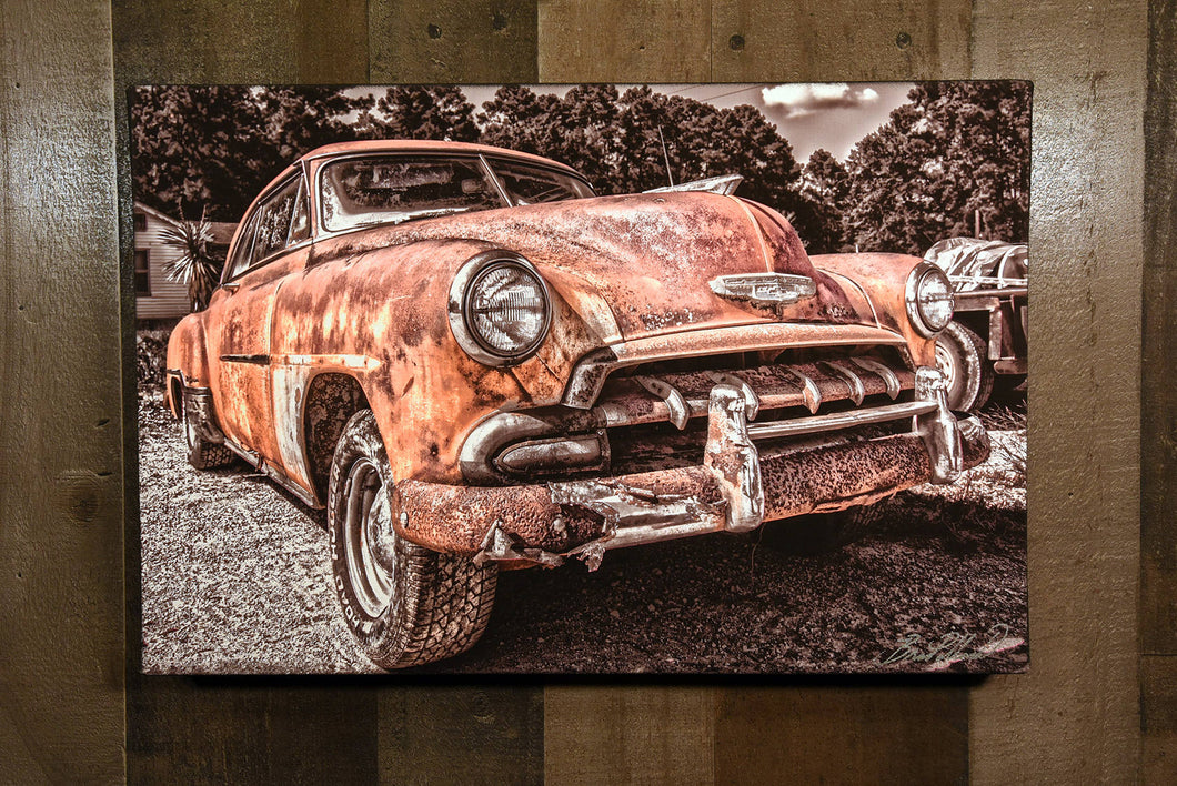 Classic Car Picture 1952 Chevrolet Wall Hanging Art Photograph Print on Canvas