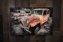 1951 Willys Jeep Wagon Art Photograph Print on Canvas
