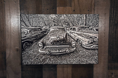 Classic Car Picture 1953 Buick Wall Hanging Art Photograph Print on Canvas Old Car Photo